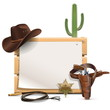 Vector Cowboy Frame - 78575527