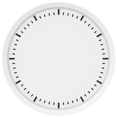 Pattern of empty hours without arrows with the boundaries time