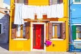 Colori e architettura dell'isola di Burano (Venezia)