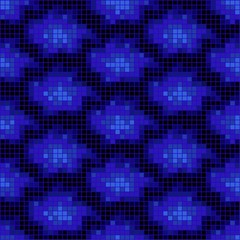 Vector illustration of blue mosaic pattern