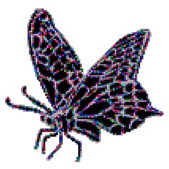 Vector illustration mosaic butterflies