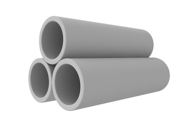 Pipes on a white background.