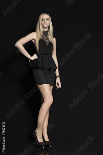 canvas print picture Fashion in schwarz