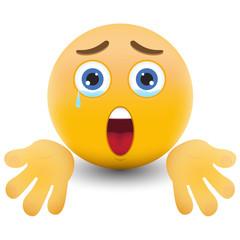 Yellow emoticon cartoon character eps 10 vector