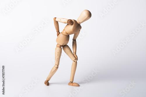 Leinwanddruck Bild Rückenschmerzen
