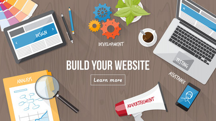 Web design concept desk