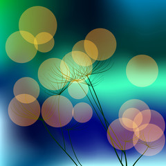 Background with dill and bokeh effect. Raster 3