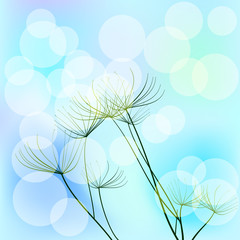 Background with dill and bokeh effect. Raster 2