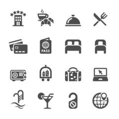 hotel service icon set, vector eps10