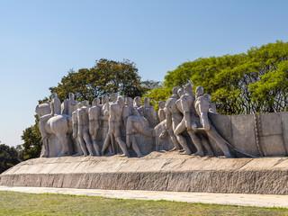 Bandeirantes Public Monument in Ibirapuera Park, Sao Paulo
