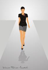 Woman fashion vector illustration logo