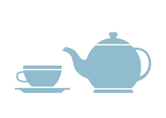 Tea vector icon on white background