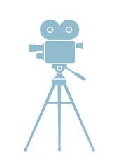 Movie camera icon on white background