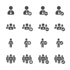 business people icon set, vector eps10