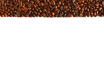 vorlage: kaffebohnen streifen oben, präsentation und druck