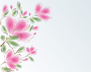 Greeting card - backgroung flowers