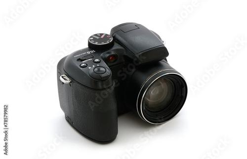 Leinwandbild Motiv Digitalkamera schwarz