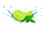 lime and water splash - 78580191