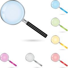 Lupe, Vektor, magnifying glass