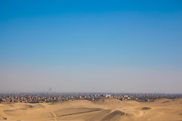 City overview of Giza, Egypt