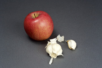 Apple and garlic