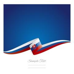 New abstract Slovakia flag ribbon