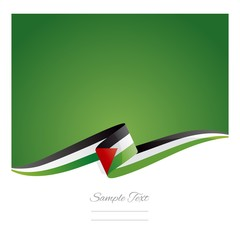 New abstract Palestine flag ribbon