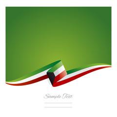 New abstract Kuwait flag ribbon