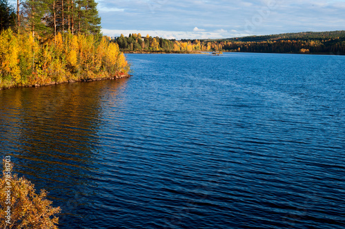 canvas print picture Herbststimmung in Finnland