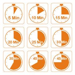 Zeituhren, orange
