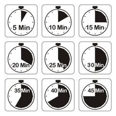 Zeituhren, schwarz