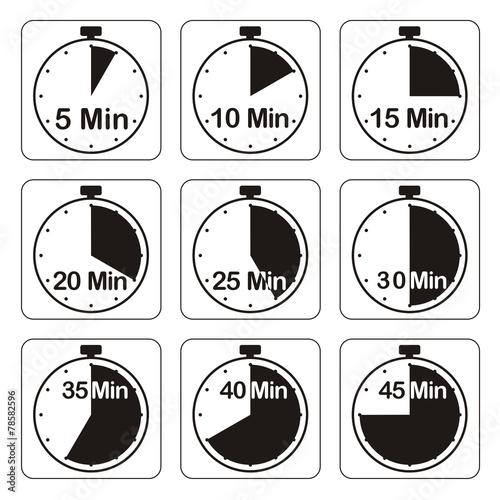 Leinwandbild Motiv Zeituhren, schwarz