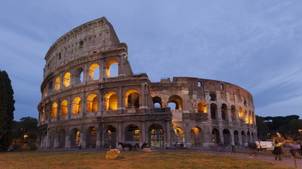 Time lapse Colosseum Rome sunset, Italy