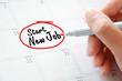 Start New Job texts on the calendar (or desk planner)  - 78583156