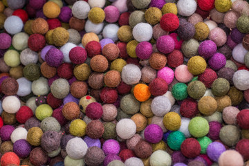 Multi colored cotton balls