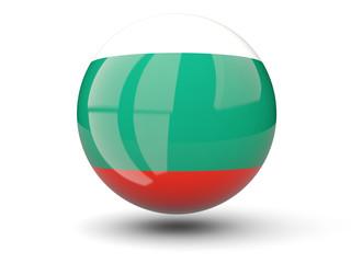 Round icon of flag of bulgaria