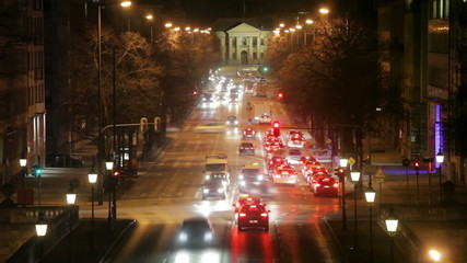 traffic timelapse munich at night