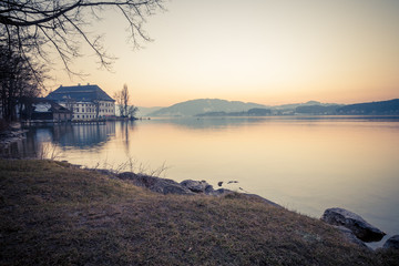Schloss Kammer Attersee Winter