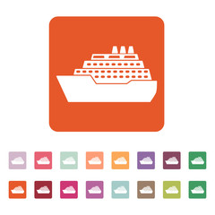 The ship icon. Travel symbol. Flat