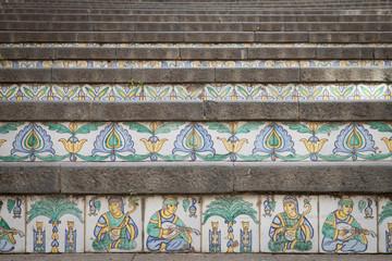 Sicily. Caltagirone Ceramic Staircase, XVII cent.