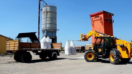 Loading fertilizer application