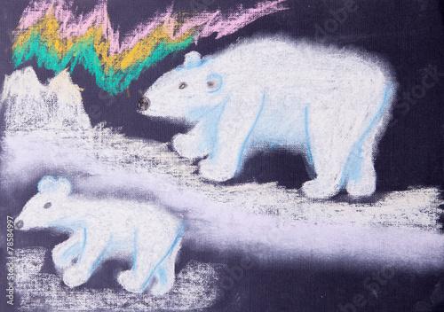obraz-dziecka-bialych-niedzwiedzi