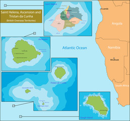 Saint Helena, Ascension and Tristan da Cunha map