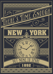 """Quote Typographical Background, vector design. """"There's time eno"""