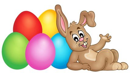 Easter image with cute bunny theme 2
