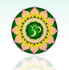 Indian sacred symbol Aum