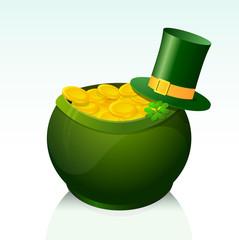 Golden Pot as symbol for St Patricks Day