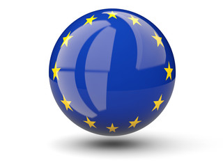 Round icon of flag of european union