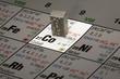 canvas print picture - Kobalt auf Periodensystem der Elemente