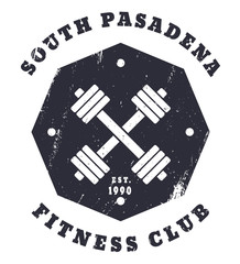 South Pasadena Fitness Club t-shirt design, eps10
